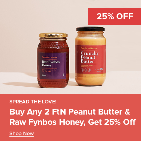 Buy any 2 FtN Peanut Butter & Honey and save 25%