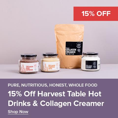 15% Off Harvest Table Hot Drinks & Collagen Creamer