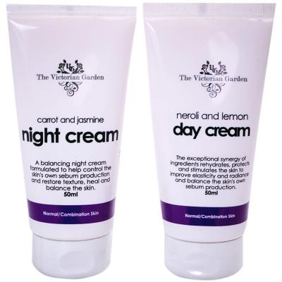 Victorian Garden Neroli & Lemon Day Cream & Carrot & Jasmine Night Cream - Value Pack