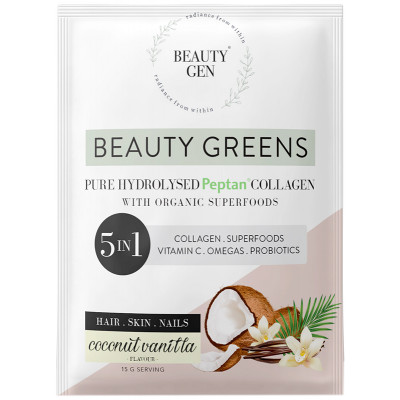 Beauty Gen Pure Hydrolised Peptan Collagen Sachet - Vanilla