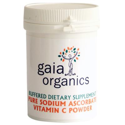 Gaia Organics Buffered Sodium Ascorbate Vitamin C powder 100g