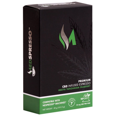 Medspresso Premium CBD Infused Espresso - Tanzanian Peaberry