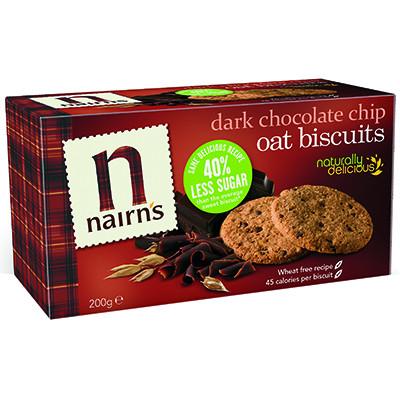Nairns Oat Biscuits - Dark Choc Chip (Wheat Free)