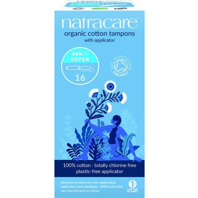 Natracare Organic Cotton Super Applicator Tampons
