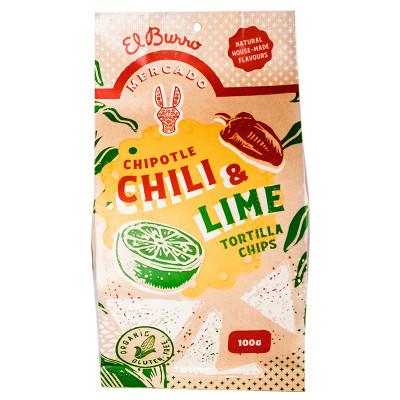 El Burro Mercado Chipotle & Lime Nacho Chips