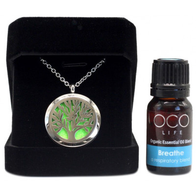 Organico by Oco Life Diffuser Pendant Tree of Life with Breathe Oil Blend 10ml