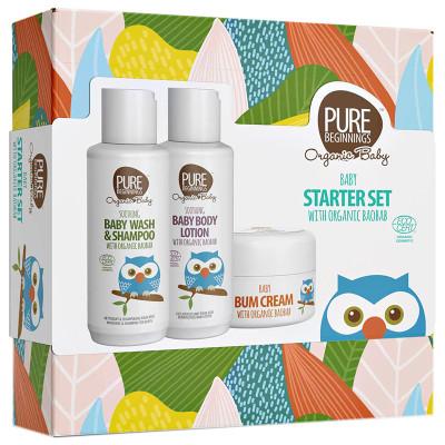 Pure Beginnings Organic Baby Gift Set