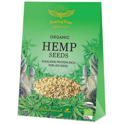 Soaring Free Superfoods Organic Shelled Hemp Seeds