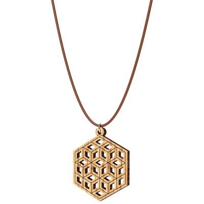 The Artists Sacred Geometry HoneyComb Pendant