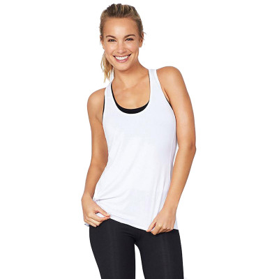 Boody Active Racer Back Tank White