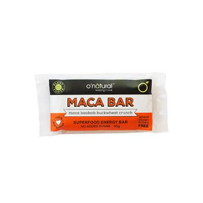 O'Natural Raw Energy Bar Maca, Baobab & Buckwheat