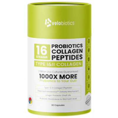 Velobiotics Probiotics Collagen Peptides Capsules