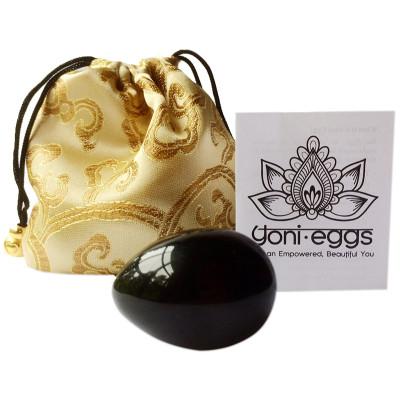 Yoni Egg Black Obsidian - Single Medium