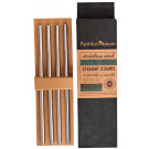 Faithful to Nature Stainless Steel Straight Straw Set
