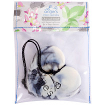 Antjies Charcoal With Liquorice & Mint Heart Soap