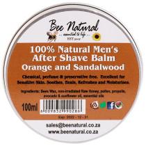 Bee Natural Men's Aftershave Balm - Orange & Sandalwood