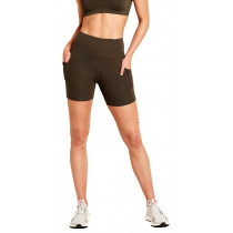 Boody Motivate High-Waist Shorts - Olive
