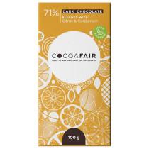 Cocoafair Citrus & Cardamom Dark Chocolate