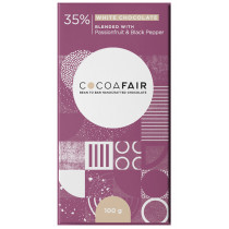 Cocoafair Passionfruit & Pepper White Chocolate