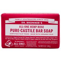 Dr. Bronner's Pure Castile Soap Bar - Rose