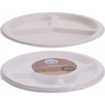 Eco Lifestyle Products Bagasse Compartment Plates