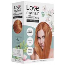 Love My Hair 100% Herbal Hair Dye - Light Auburn