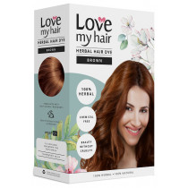 Love My Hair 100% Herbal Hair Dye - Brown