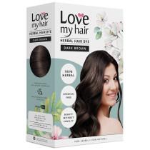 Love My Hair 100% Herbal Hair Dye - Dark Brown