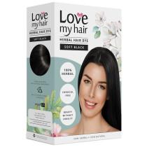 Love My Hair 100% Herbal Hair Dye - Soft Black