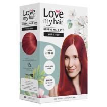 Love My Hair 100% Herbal Hair Dye - Wine Red