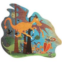 Scratch 60 Piece Puzzle - Dragon