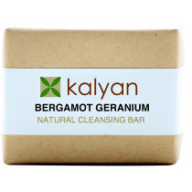 Kalyan Bergamot & Geranium Natural Cleansing Bar