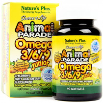 Animal Parade Omega 3/6/9 Junior Softgels 90