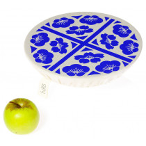 Halo Single Dish Cover Edible Flowers - French Blue