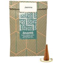 Ananta Luxury Hand Rolled Jasmine Incense Cones & Burner
