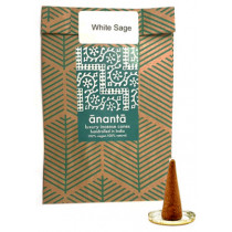 Ananta Luxury Hand Rolled Incense Cones - White Sage