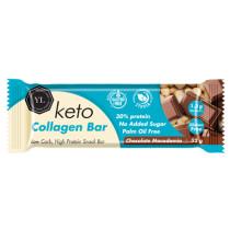 Youthful Living Keto Collagen Bar - Chocolate Macadamia