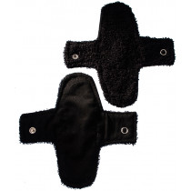 Woman-Kind Reusable Black Fabric Pads Pack of 2 (Small)