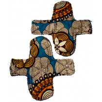 Woman-Kind Reusable Funky Fabric Pads Pack of 2 (Small)