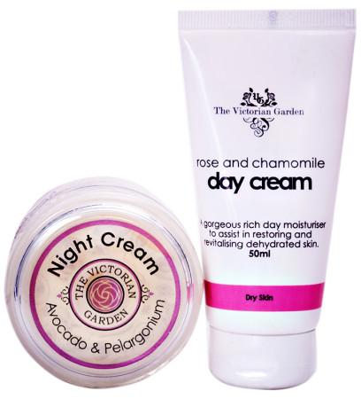 Victorian Garden Rose Day Cream PLUS Avocado Night Cream VALUE PACK