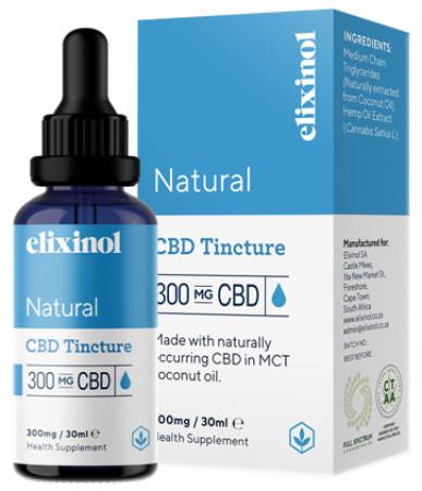 Elixinol Hemp CBD Oil 300mg - Natural
