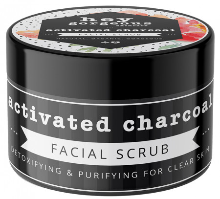 Hey Gorgeous Activated Charcoal Facial Scrub