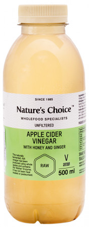 Nature's Choice Unfiltered Apple Cider Vinegar With Honey & Ginger