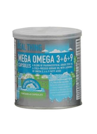 The Real Thing Mega Omega 3+6+9 Capsules