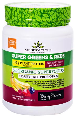 Nature's Nutrition Super Greens & Reds - Berry Banana