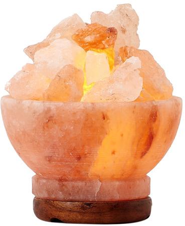 Himalayan Crystal Salt Lamp Fire Bowl